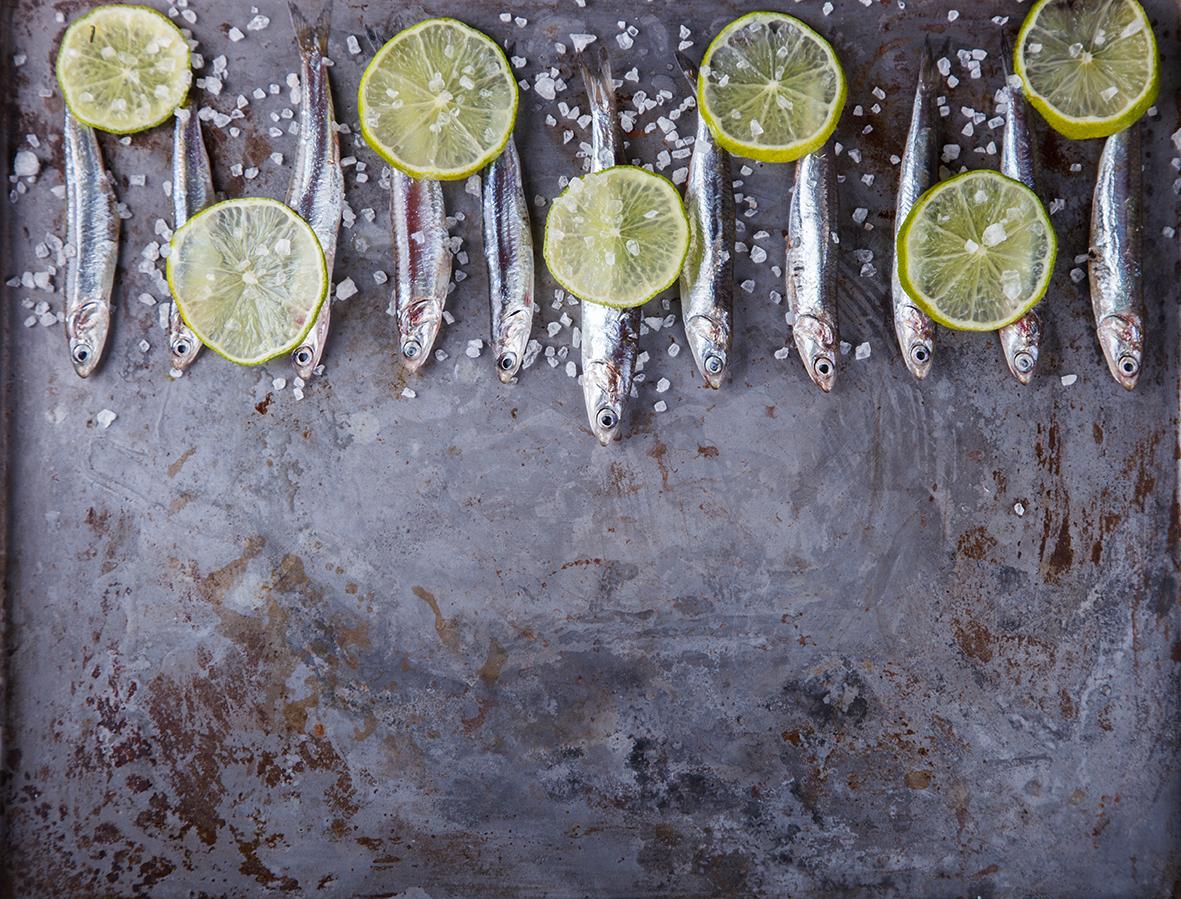 acciughe e limone