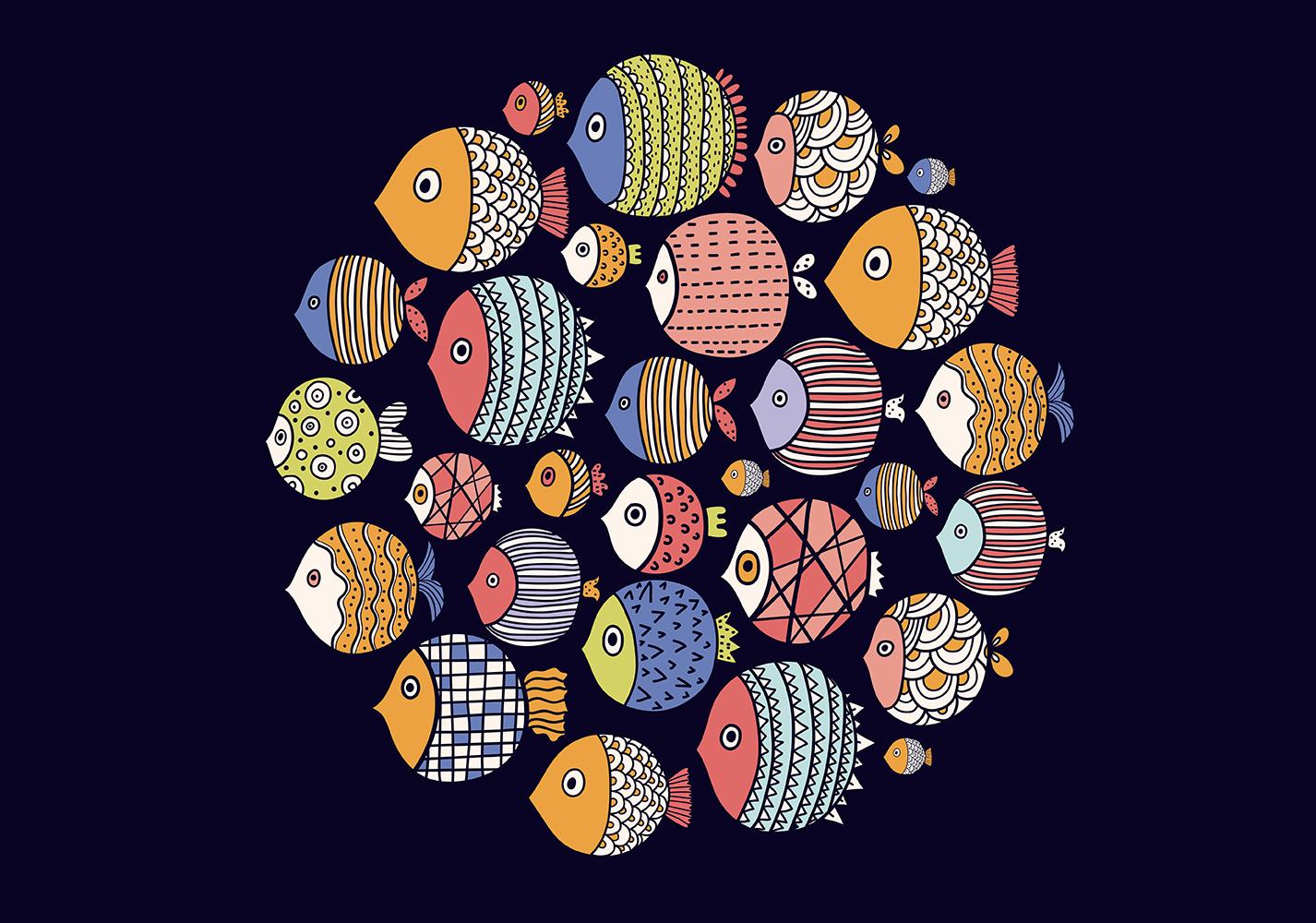 disegno pesci